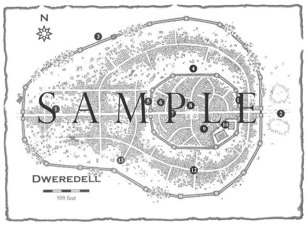Dweredell - Sample Map